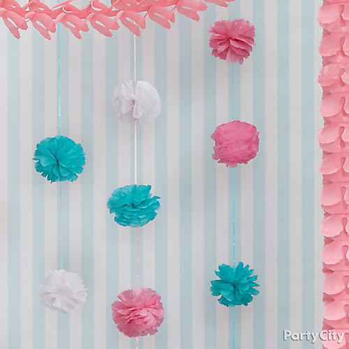 Colorful Pom Pom Garland Idea