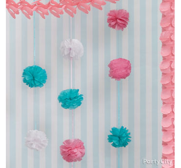 Colorful Pom Pom Garland Idea