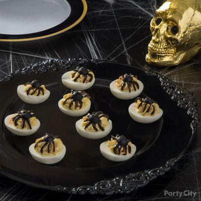 Spider Deviled Eggs Idea