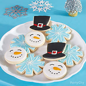 Holiday Cookie Party Snowman Cookies