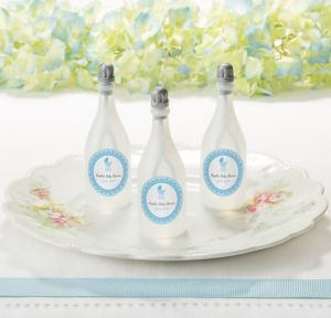 Blue Stroller Personalized Baby Shower Bubbles (Printed Label)