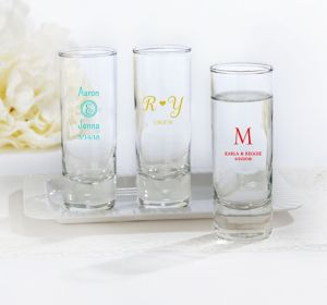Personalized Tall Shot Glasses <br>(Printed Glass)</br>