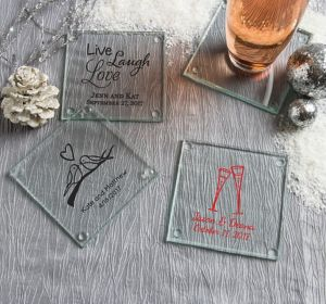 Personalized Glass Coasters <br>(Printed Glass)