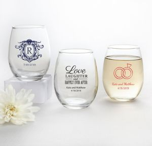 Personalized Stemless Wine Glasses 9oz <br>(Printed Glass)</br>
