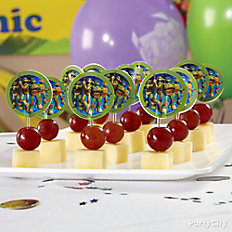 TMNT Fruit and Cheese Kabobs