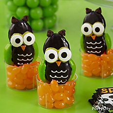 Friendly Candy Dipped Owl Cookies