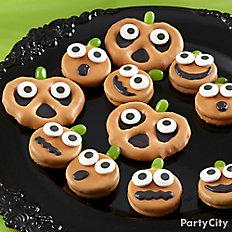 Friendly Candy Dipped Pumpkin Pretzel & Cookies