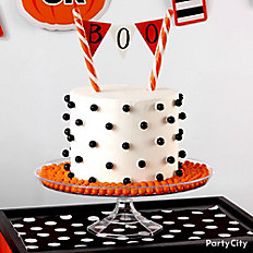 Modern Halloween Polka Dot Cake