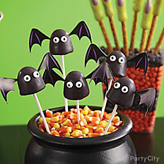 Witch's Crew Bat Brownie Pops