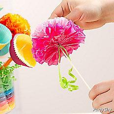 Add paper flowers