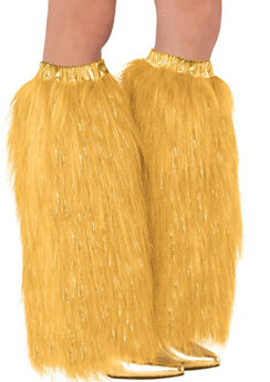 Gold Furry Leg Warmers