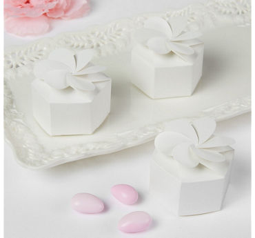 White Petal Favor Boxes