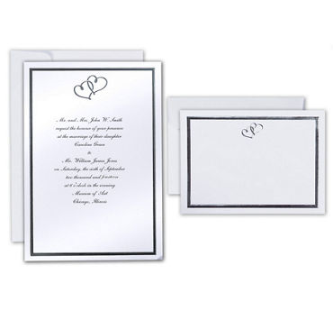 Sweet Heart Printable Wedding Invitations Kit 50ct