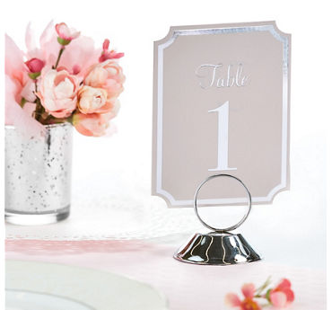 Silver Place Card Holder
