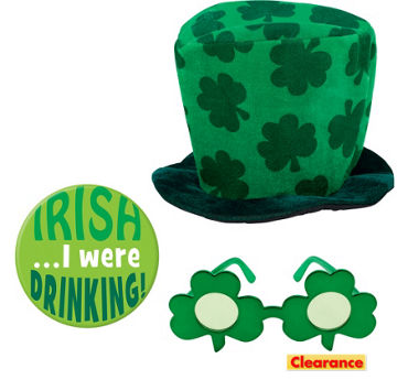 St. Patrick's Day Shamrock Hat Set 3pc