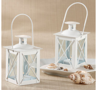 Mini White Lantern Tealight Candle Holder