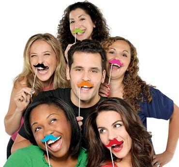 Moustache Photo Props 6ct