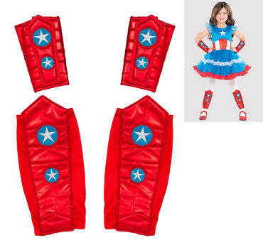 Child American Dream Arm and Leg Warmers Set