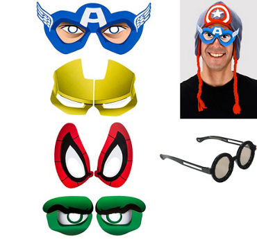 Superhero Cartoon Eyes 4ct