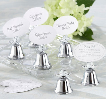 Love Bird Kissing Bell Place Card Holders