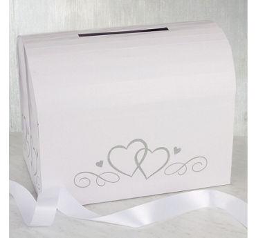 White Wedding Card Holder Box