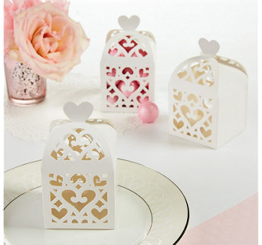 White Lantern Favor Boxes