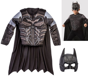 Child Batman Muscle Costume Accessory Kit 3pc - The Dark Knight