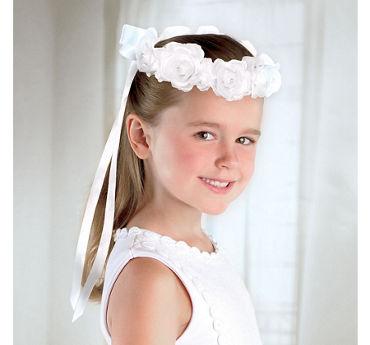 Child White Rose Headwreath