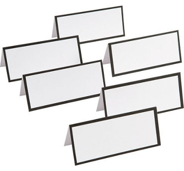 Black Border Printable Place Cards 48ct