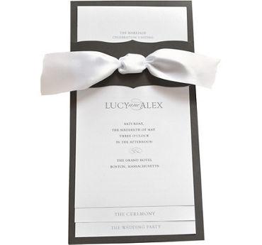 Black & White Printable Wedding Programs Kit 50ct