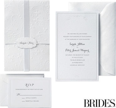 Scroll Pocket Printable Wedding Invitations Kit 30ct