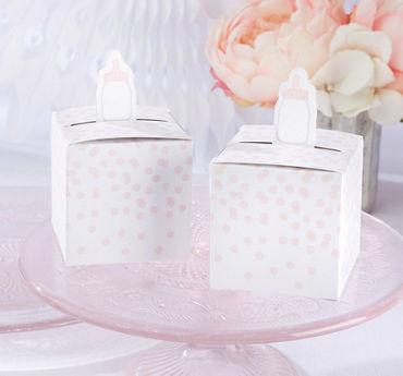 Pink Bottle Baby Shower Favor Boxes