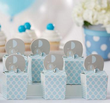 Blue Baby Elephant Treat Boxes 8ct