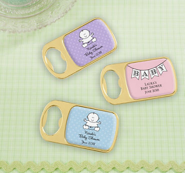 Generic Baby Personalized Baby Shower Bottle Openers - Gold (Printed Epoxy Label)