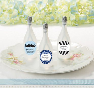 Personalized Baby Boy Baby Shower Bubbles (Printed Label)