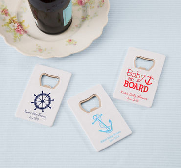 Personalized Credit Card Bottle Opener, White