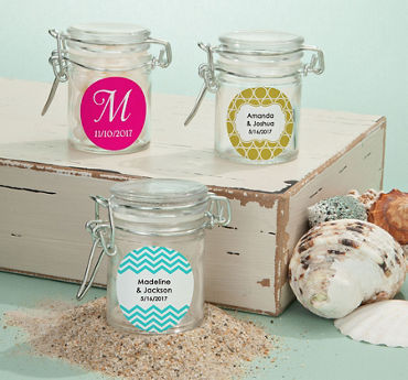 Personalized Small Glass Jars (Printed Label)