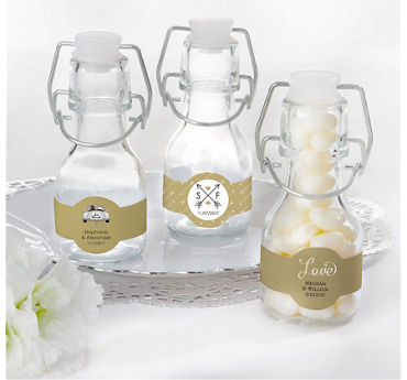 Personalized Glass Swing Top Bottles (Printed Label)