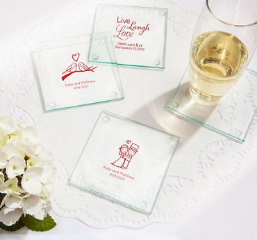 Personalized Glass Coasters (Printed Glass)
