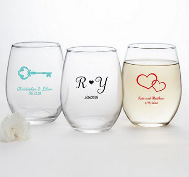 Personalized Stemless Wine Glasses 15oz (Printed Glass)