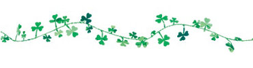 Shamrocks Wire Garland 12ft