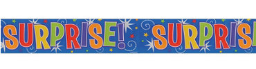 Surprise Metallic Banner 12ft