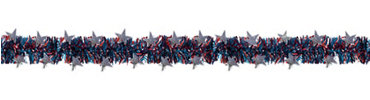 Patriotic Tinsel Garland 9ft
