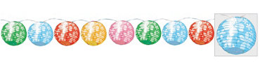 Round Hibiscus Lantern Lights 11ft