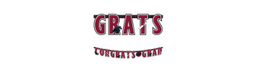 Berry Graduation Letter Banner 10ft