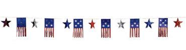 Stars & American Flag Garland