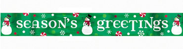 Seasons Greetings Holiday Foil Banner 9ft