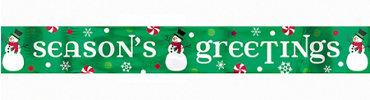 Seasons Greetings Foil Banner