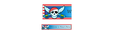 Pirate Party Stripe Custom Birthday Banner 6ft