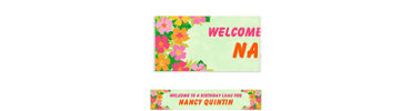 Floral Paradise Warm Custom Banner 6ft